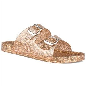 NEW🎀Glitter Sandals Bronze🎀